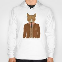 mr fox Hoodies featuring mr fox by bri.buckley