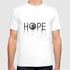 Hope White Mens Fitted Tee SMALL