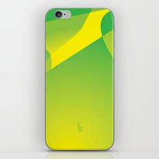Green Tonal Collision iPhone & iPod Skin