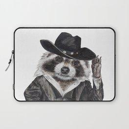 """ Raccoon Bandit "" funny western raccoon Laptop Sleeve"