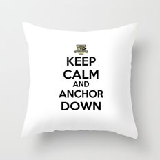 Keep Calm And Anchor Down / Vanderbilt University Throw Pillow