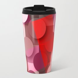 dots & squares red Travel Mug