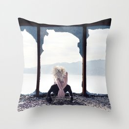 """""""Shattered"""" Throw Pillow"""