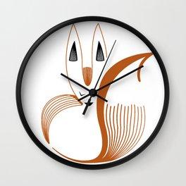 Sleeping Desert Fox Wall Clock