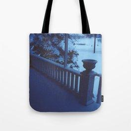 porch snow. Tote Bag
