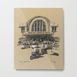 Stasiun Kota Jakarta Metal Print