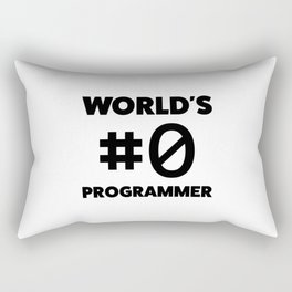 World's #0 programmer Rectangular Pillow