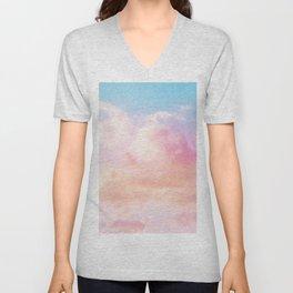 Dreamsicle Sky #1 #dreamy #wall #decor #art #society6 Unisex V-Neck