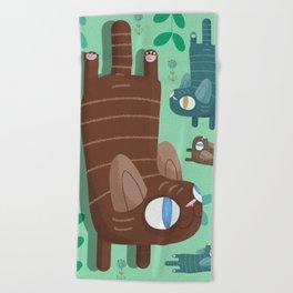 catnip Beach Towel