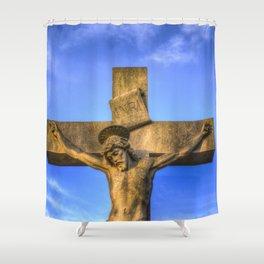 Jesus Statue Shower Curtain