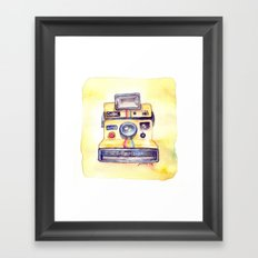 Vintage gadget series: Polaroid OneStep camera Framed Art Print