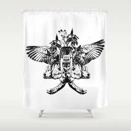 Deathshead - Belladonna Nightshade Shower Curtain