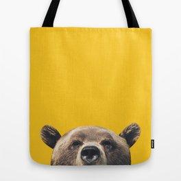Bear - Yellow Tote Bag