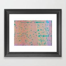 fluorescent chemical texture Framed Art Print