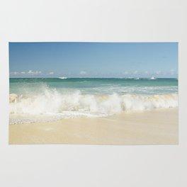 beach love shoreline serenity Rug