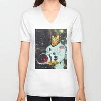 the xx V-neck T-shirts featuring xX SPACE CAT Xx by Frankie White