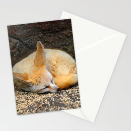 Time to Sleep Little Fennec Fox Stationery Cards