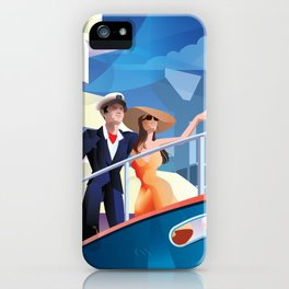 COUPLE ON YACHT iPhone Case