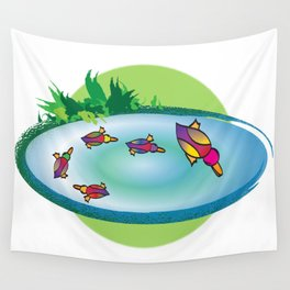 Lucky Ducks Wall Tapestry