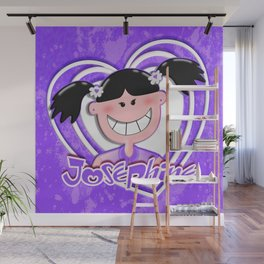 Josephine Purple Wall Mural