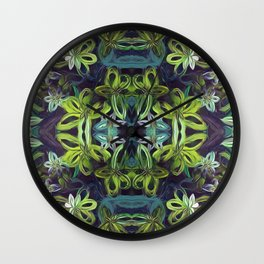 Tropical Greenery Wall Clock