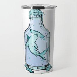 Hammered Sea Foam Vodka Travel Mug