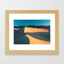 the geometry of death valley light Framed Art Print