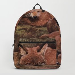 Vintage Fox and Cuba Painting (1909) Backpack