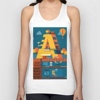 building Tank Tops featuring A Building by Orkha