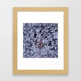 Underneath Floating Flowers Framed Art Print