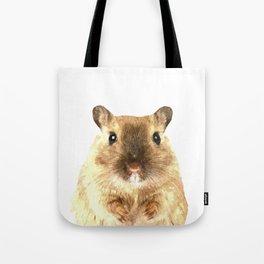 Hamster Portrait Tote Bag