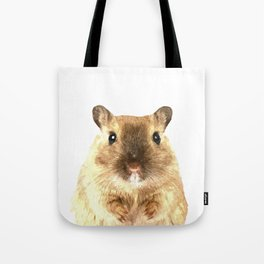 Hamster Portrait Tote Bag