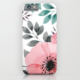 FLOWERS WATERCOLOR 14 iPhone Case