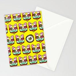 Good Luck Dizzy Cat Odyssey by Donut Matter Stationery Cards