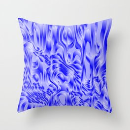 Pastel smudges stains of delicate colors with blue. Throw Pillow