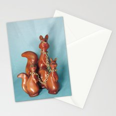 Wooden Squirrel Bondage Family Stationery Cards
