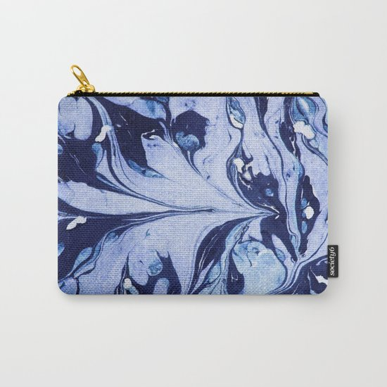 Dark and Bright and Blue Carry-All Pouch