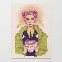witch Canvas Prints featuring Witch by Vortex Vixen