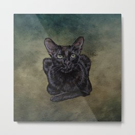 Cat Painting 16 Metal Print