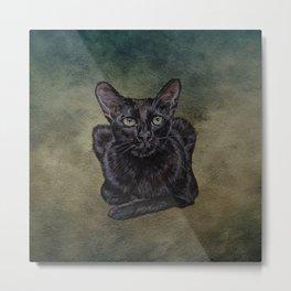 Cat Painting 16 Metal Print
