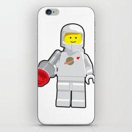 Vintage White Spaceman Minifig iPhone Skin