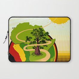 Africa Brasil from Sun to Earth Laptop Sleeve