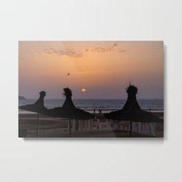 Summer sunset at Essaouira beach/ Morocco Metal Print