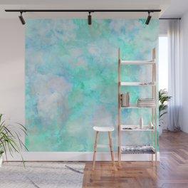 Iridescent Aqua Marble Wall Mural
