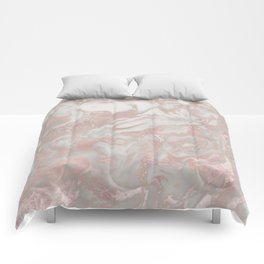 French polished rose gold marble Comforters