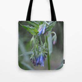 Blue Flower up in the Moutains Tote Bag