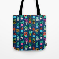 Check It - house plants indoor monstera neon bright modern pattern retro throwback memphis style Tote Bag