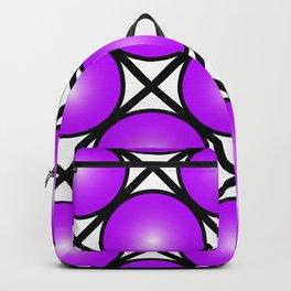 Neon Purple Pattern Backpack