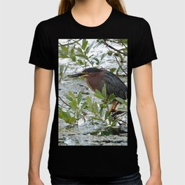 Green Heron at Lakeside T-shirt