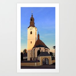 The village church of Sankt Oswald bei Haslach | architectural photography Art Print